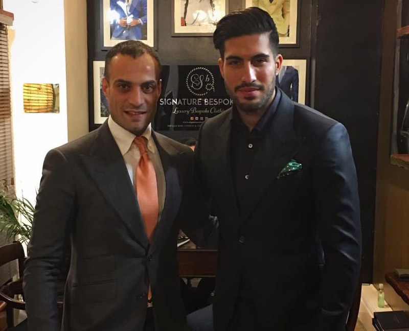Emre Can wearing Signature Bespoke suit