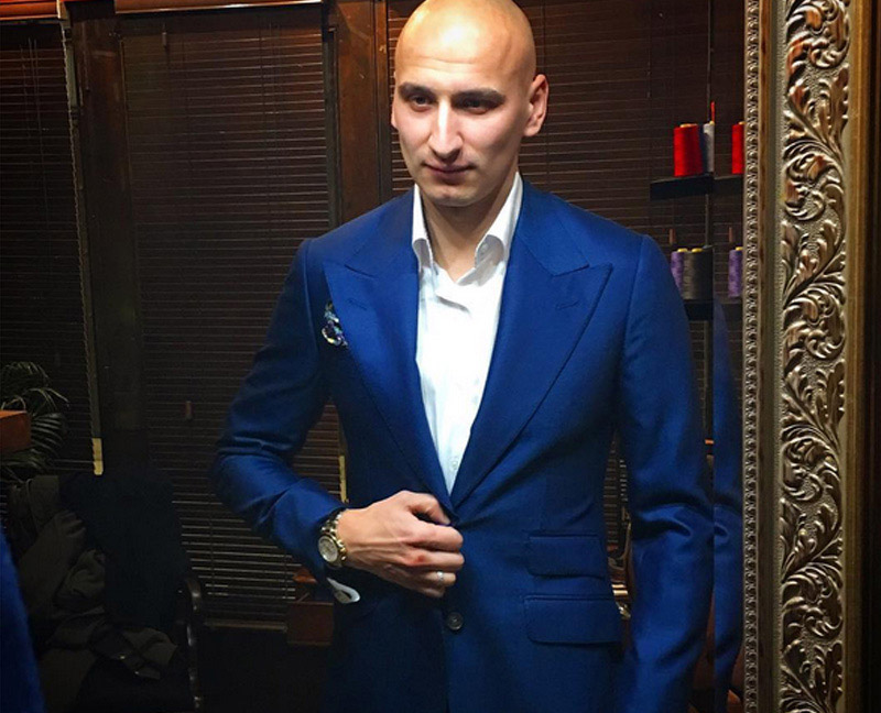 Jonjo Shelvey wearing Signature Bespoke