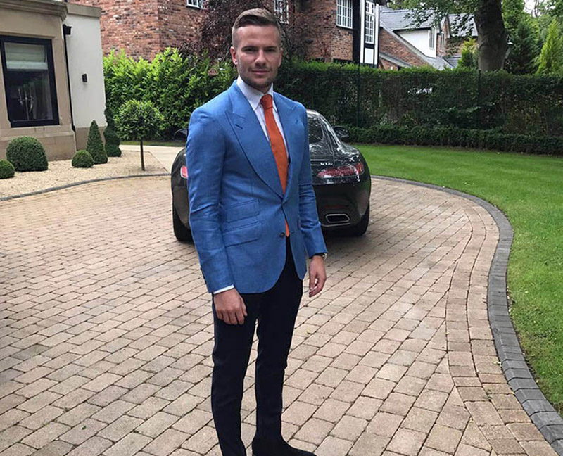 Tom Cleverley wearing Signature Bespoke